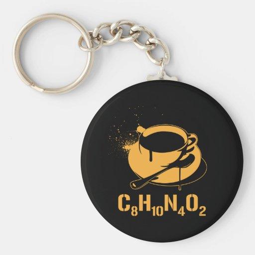 Coffee C8H10N4O2 Keychains
