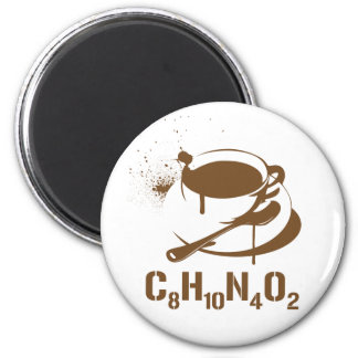 Coffee C8H10N4O2 Magnet