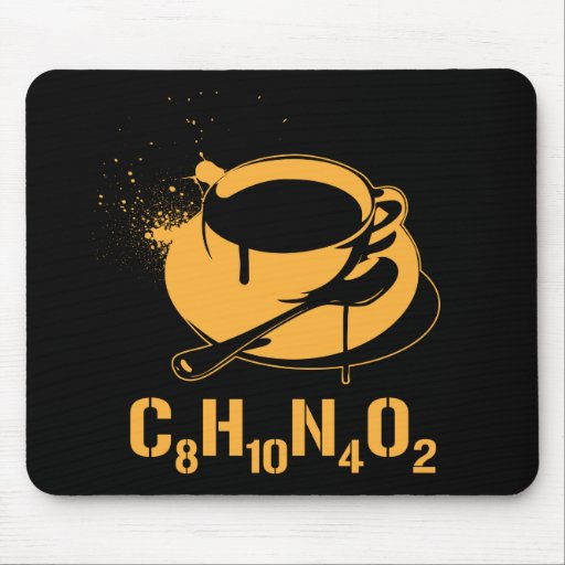 Coffee C8H10N4O2 Mouse Pads