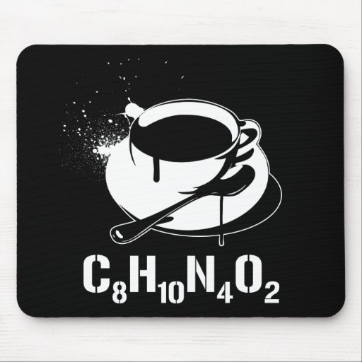 Coffee C8H10N4O2 Mouse Mat