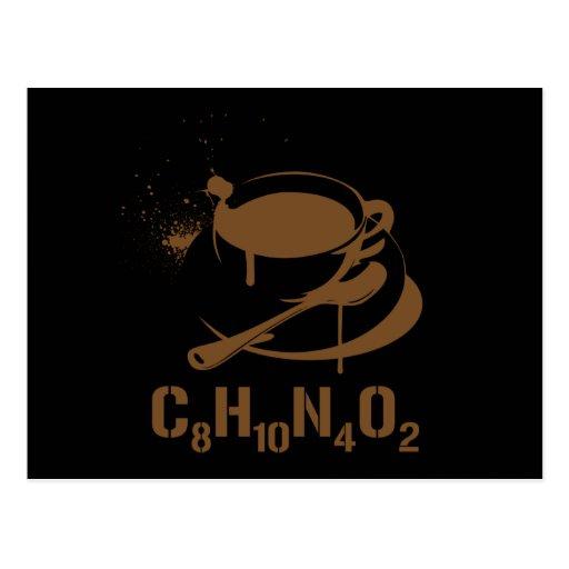 Coffee C8H10N4O2 Post Cards