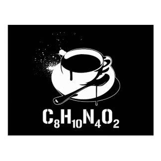 Coffee C8H10N4O2 Postcard