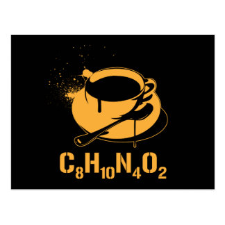 Coffee C8H10N4O2 Postcard