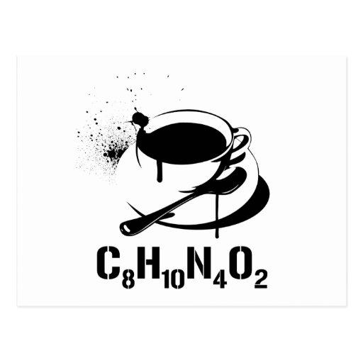 Coffee C8H10N4O2 Postcards