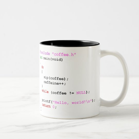 Coffee.c Programming Two-Tone Coffee Mug