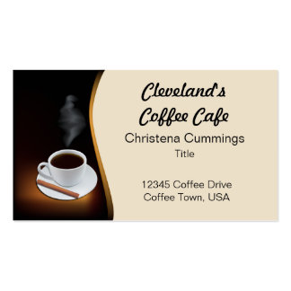 Coffee Cafe Business Card