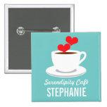 Coffee Café Shop Custom Employee Name Badge