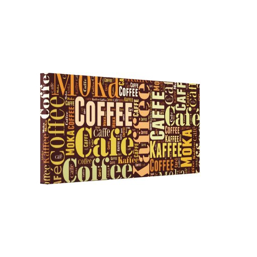 Coffee Stretched Canvas Prints