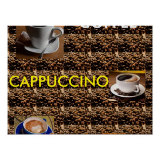 COFFEE CAPPUCCINO LATTE POSTER MENU