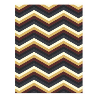 coffee caramel chevron pattern postcards