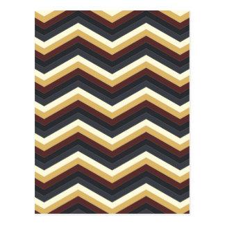 Coffee Caramel Chevron Pattern Post Cards