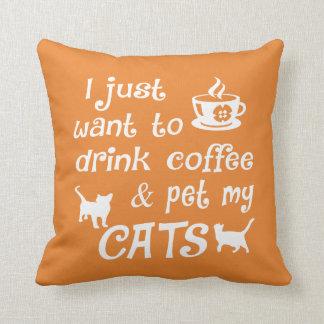 Coffee & Cats Cushion