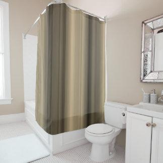 Coffee Chocolate Brown Stripe Line Tabby Pattern Shower Curtain