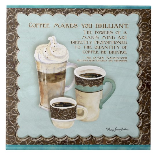 Coffee & Chocolate Java Latte Espresso Kitchen Tile