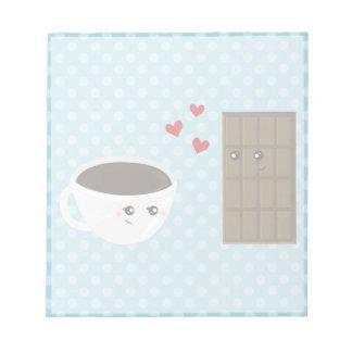 Coffee & Chocolate Love Notepad