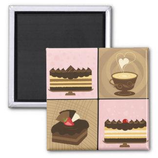 Coffee & Chocolate Lovers Fridge Magnet