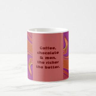 Coffee chocolate men joke basic white mug