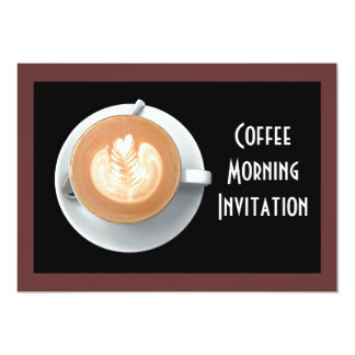 Coffee Circle Invitation Card