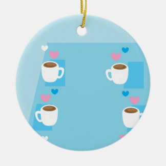 Coffee club group gathering of coffees christmas ornament
