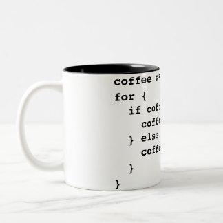 Coffee Code in Golang Two-Tone Coffee Mug