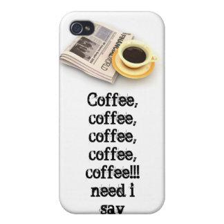 Coffee coffee coffee iPhone 4/4S covers