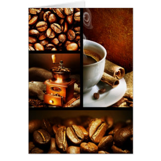 Coffee Collage 2 Card