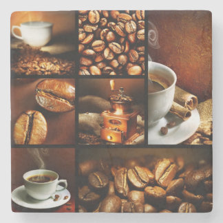 Coffee Collage 2 Stone Coaster