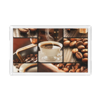 Coffee Collage Acrylic Tray