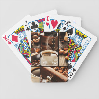 Coffee Collage Bicycle Playing Cards