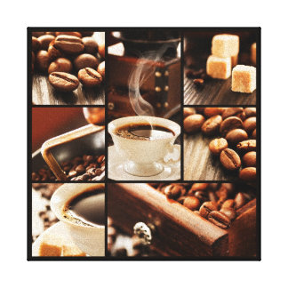 Coffee Collage Canvas Print