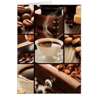 Coffee Collage Card