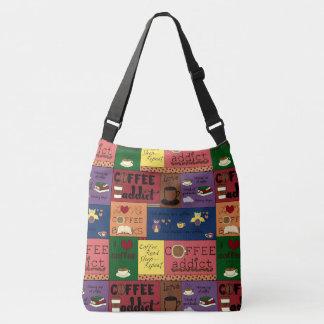 Coffee Collage Crossbody Bag