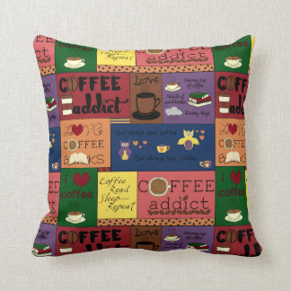 Coffee Collage Cushion