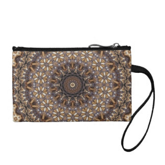 Coffee Color Brown Kaleidoscope Abstract Coin Purses