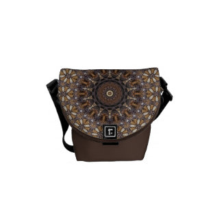 Coffee Color Brown Kaleidoscope Abstract Courier Bags