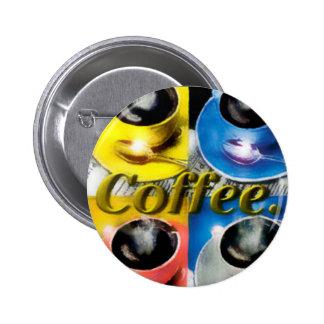 Coffee Colors 6 Cm Round Badge