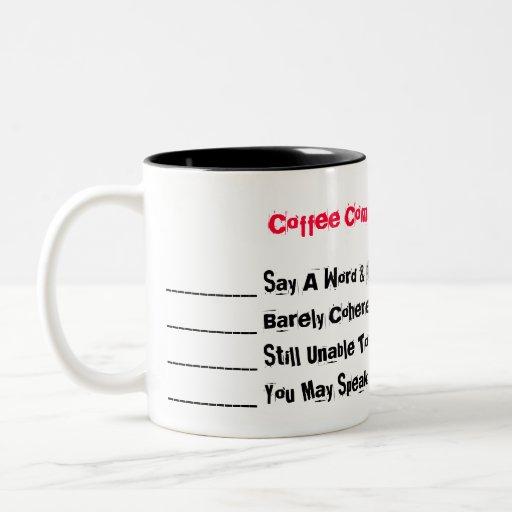 Coffee Communication Levels Mugs