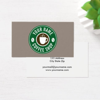Coffee company cafe shop business card template