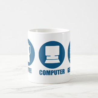 Coffee Computer Genealogy Classic White Coffee Mug