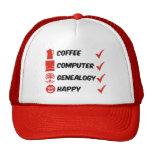 Coffee Computer Genealogy Happy Hats