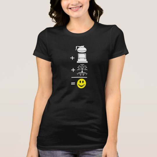 Coffee Computer Genealogy Happy T-Shirt