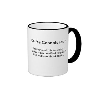 Coffee Connoisseur/Coffee kinda sewer Ringer Mug