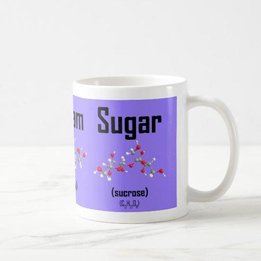 Coffee, Cream and Sugar Molecule Mug (purple)