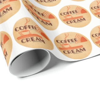 Coffee Cream Retro Dairy Milk Bottle Cap Wrapping Paper