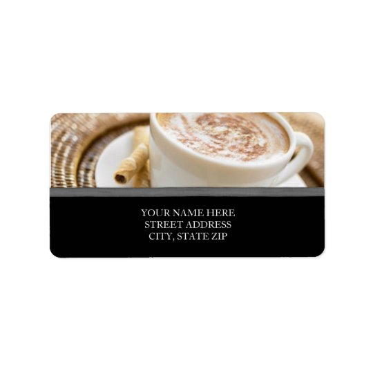 Coffee Cup Address Labels