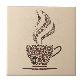 Coffee Cup Art for your Kitchen Tile