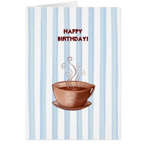 Coffee Cup Birthday Card