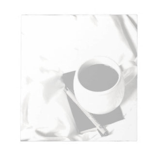 Coffee Cup Black and White Breakfast in Bed Notepads