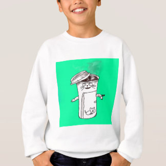 Coffee Cup Cat Sweatshirt
