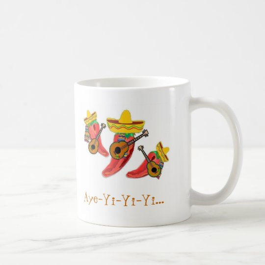 Coffee Cup, Chilli Peppers , Mariachi Band Coffee